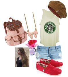 """""""Starbucks outfit"""" by noelleneilson6 ❤ liked on Polyvore"""