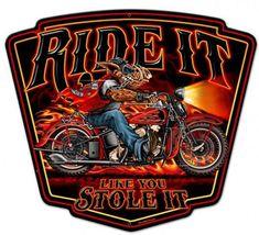Blechschild Ride It-D1211