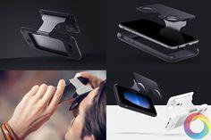 An awesome Virtual Reality pic! Esse case vai transformar seu Iphone em um óculos de Realidade Virtual em segundos.  Mais uma startup no site Kickstarter.com o Figment VR está sendo lançado hoje por um valor limitado de $ 49 dólares logo após será vendido por $ 79 dólares sendo compatível com IPhone 6 6s 6 Plus e 6s Plus.  Uma versão para Android está em andamento.  #Figmentvr #vr #virtualreality #realidadevirtual #tecthe #kickstarter #tecnologia #technology #news by tecthe check us out…