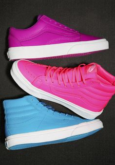 Make a statement in neon! Live loud in footwear that pops.