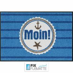 """Fußmatte """"Hamburg Moin"""" 🛳️🛳️🛳️ aus der Salonlöwe-Kollektion. Verwendbar für den Innen- und Außenbereich. https://www.fix-fussmatte.de/shop/artikel/fussmatte-salonloewe-moin"""