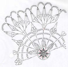 蓮の花のドイリー(編み図付き、はす、ハス) : Crochet a little
