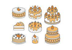 Strawberry Cake Vectors Cake Vector, Vector Art, Cake Illustration, Illustrations, Cake Drawing, 2000s, Pixel Art, Infographic, Strawberry