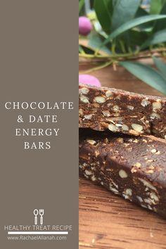 Chocolate & Date Energy Bars on www.RachaelAllanah.com