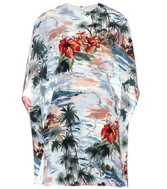 Valentino Mytheresa.com Online Exclusive Printed Silk Dress For Spring-Summer 2017