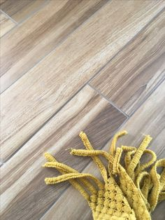 Fabulous Porcelain tile looks just like wood, right down to the texture!
