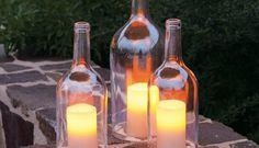 Ways to reuse glass bottles - 26 ideas for old wine bottles