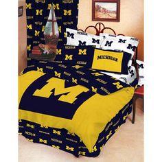 NCAA - Michigan Wolverines Queen Comforter Set