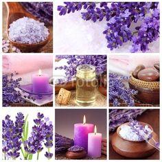 Lavender lázně koláž