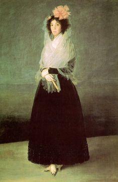 Francisco de Goya - The Countess del Carpio, Marquesa de la Solana  (oil on canvas, c. 1792)