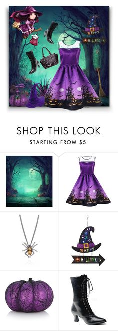 """""""Halloween Dress - Gamiss Contest"""" by ragnh-mjos ❤ liked on Polyvore featuring Funtasma"""