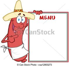 Vector - Happy Sausage Showing Menu - stock illustration, royalty free illustrations, stock clip art icon, stock clipart icons, logo, line art, EPS picture, pictures, graphic, graphics, drawing, drawings, vector image, artwork, EPS vector art