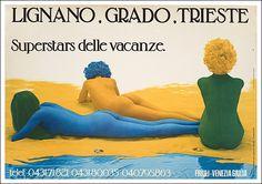 lignano grado trieste  vintage ads ca 1970  www.varaldocosmetica.it/en