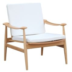 Dot & Bo White as Snow Lounge Chair (6.057.435 VND) ❤ liked on Polyvore featuring home, furniture, chairs, accent chairs, white chair, mod furniture, modern home furniture, white modern chair and modern lounge chair