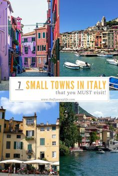 The best of Italy can be found in the lesser known small towns! These smaller villages have the old time charm that larger Italian cities are lacking. Here are 7 small towns in Italy you must visit!