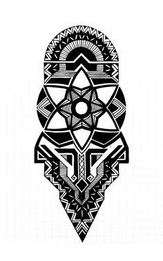 Geometric Tattoo Stencil, Geometric Mandala Tattoo, Geometric Tattoo Design, Geometry Tattoo, Mandala Tattoo Design, Tribal Sleeve Tattoos, Leg Tattoos, Arm Band Tattoo, Body Art Tattoos