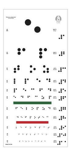 "How ironic… a Braille eye chart. You can find this original work titled ""Braille Eye Chart"" at www.etsy.com/shop/RudyPrints?ref=si_shop"