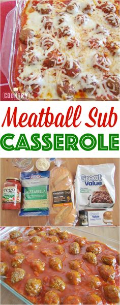 Meatball Sub Casserole is a huge family favorite! It only has a handful of ingredients and is a whole meal in one. So yummy!