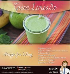 The Green Limeade Juice Recipe  I want you to try it out with your friends and loved ones  This is the perfect juice to go along with a nice summer day