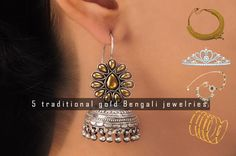 In India, there are different cultures and every culture has its own #traditionaljewellery. Know about the 5 common traditional #jewelries, which can be found with any #Bengali woman.