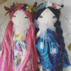 Pixie girls from Forest creature dolls