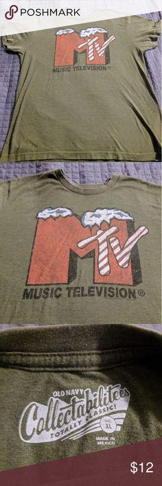 MTV Music Television Mens T-shirt XL Extremely soft MTV graphic t-shirt. Tee  Shirts 2290bcffad1