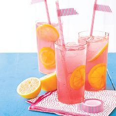Sweet Pink Lemonade... Recipe:  Bring 6 cups water, 1 1/2 cups sugar & 1/4 tsp. salt to a boil in a pan over high heat, stirring occasionally. Remove pan from heat, cover & let stand for 10 minutes. Puree 4 cups chopped watermelon in a blender with 1 cup water. Pour syrup & watermelon puree through a strainer into a pitcher. Stir in 2 cups lemon juice (from about 8 lemons). Serve over ice. Makes 12 servings.