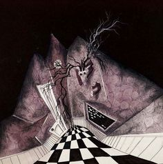 Macabre Artwork: The Modern Master of Darkness Tim Burton - Meanwhile. in Art - Learn about Art, Sell Your Art, Buy Artwork, Learn about Famous Artists Tim Burton Art, Illustration, Beetlejuice, Art Style, Art, Macabre, Dark Art, Art Exhibition, Alice In Wonderland