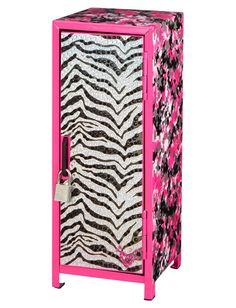 Zebra Dye Effect Mini Locker | Room Decor | Clearance | Shop Justice
