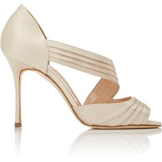 Manolo Blahnik Women's Treuil Asymmetric-Strap Sandals Size ($835) ❤ liked on Polyvore featuring shoes, sandals, colorless, champagne sandals, strap high heel sandals, clear high heel shoes, champagne shoes and clear sandals