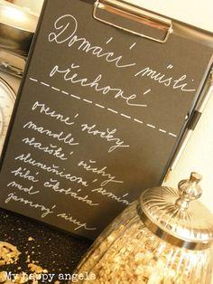 Müsli s oříšky, semínky a bílou čokoládou Art Quotes, Chalkboard Quotes, Happiness, Bonheur, Being Happy, Happy