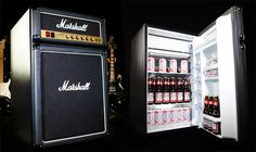 Nothing makes your beer look sexier than displaying it in a mini-fridge shaped like a Marshall Amp. In fact, when you think about it, nothing makes you look sexier than owning a Marshall Amp mini-fridge. Casa Rock, Beer Fridge, Drinks Fridge, The Marshall, Marshall Guitar, Marshall Speaker, Marshall Music, Man Cave Accessories, Guitar Accessories