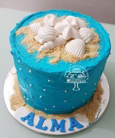 Beach Cake #BeachThemeCake #Cake #ButtercreamCake #ButterCake #FarooBakes #FarooZsBoutique