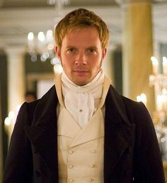 Captain Wentworth aka Rupert Penry Jones. I think I need a life-size cutout for next years. Jane Austen party.