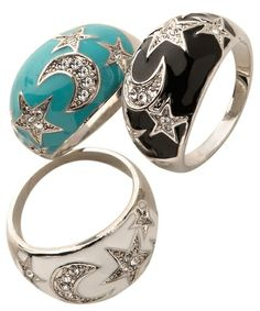 Blu Bijoux Stars and Moons Ring