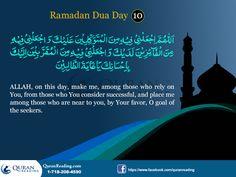 Ramadhan Dhuas: Day 10