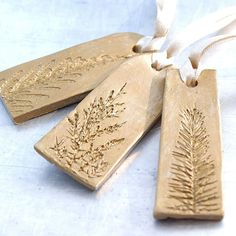 Clay Sculpture Ornament with Natural Plant by JewelryByMondaen,