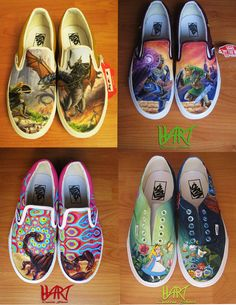 Custom painted shoes via Etsy