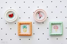 Mini Summer Framed Embroideries