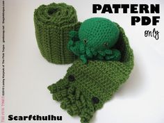 *This is a Scarfthulhu Crochet Pattern PDF file only, not a completed scarf* Introducing the Scarfthulhu Cthulhu Scarf - the perfect complement to ...