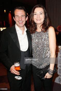 Hans-Werner Meyer and his wife Jacqueline Macaulay attend 'Goldene Kamera 2013' at Axel Springer Haus on February 2, 2013 in Berlin, Germany.