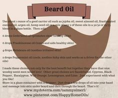 Beard Oil. Essential Oils