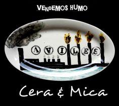 Plato pintado a mano de Cera y Mica