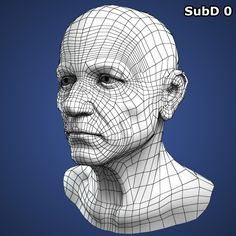 Realistic Old Man Head 3d Model Characters 3D Models
