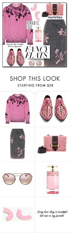 """(TFS)Magic Slippers: Fancy Flats #3192"" by shoaleh-nia ❤ liked on Polyvore featuring Prada and Madewell"
