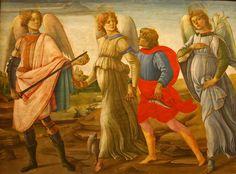 Filippino Lippi,Three Archangels and Young Tobias, 1485