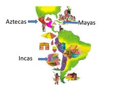 Resultado de imagen para imagenes dibujos de mayas incas y aztecas segun el mapa