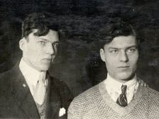 Berthold and Klaus von Stauffenberg,Conspirators of 1944 plot to kill Hitler. Bertold a professor of internatinal law. Claus an army colonel.Bertold planted the bomb whichdid not kill Hitler. He was  strangled & revieved multiple times. His execution filmed for Hitler.Claus Shot.(picture of them younger)