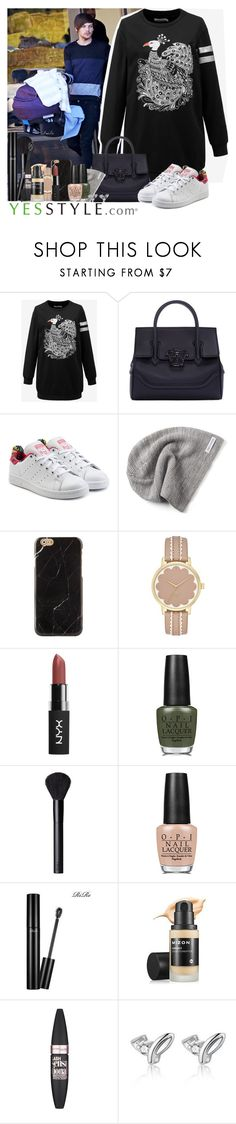"""""""Freddie Tomlinson"""" by mish-01 ❤ liked on Polyvore featuring Cloudwood, Versace, adidas Originals, Converse, OPI, NARS Cosmetics, Maybelline and freddietomlinson"""
