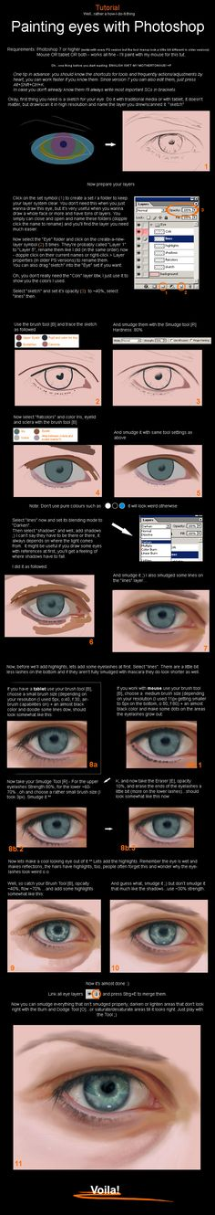 Photoshop - Painting an Eye by sirasan on deviantART